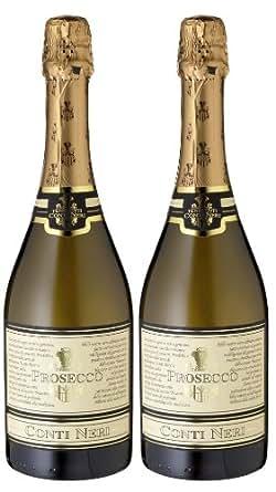 "Meevio Prosecco Spumante Extra Dry ""Conti Neri"", Tenimenti Associati (2 Flaschen), 2er Pack (2 x 750 ml)"