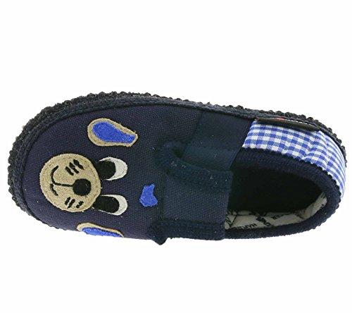 HAFLINGER Slipper Rex Schuhe Kinder Hausschuhe Pantoffel Blau 629166 0 76 Blau