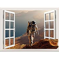 3DStereo Window Stickers Space Science Fiction Film Background Wall Stickers Simulation Door Stickers Living Room70 * 50Cm PVCCan Be Customized Size