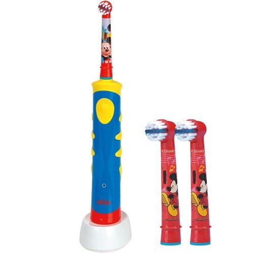 SPAR-SET: 1 Braun Oral-B Advance Power Kids 950 TX elektrische Kinder-Zahnbürste + 2er Stages Power Aufsteckbürsten Micky Maus