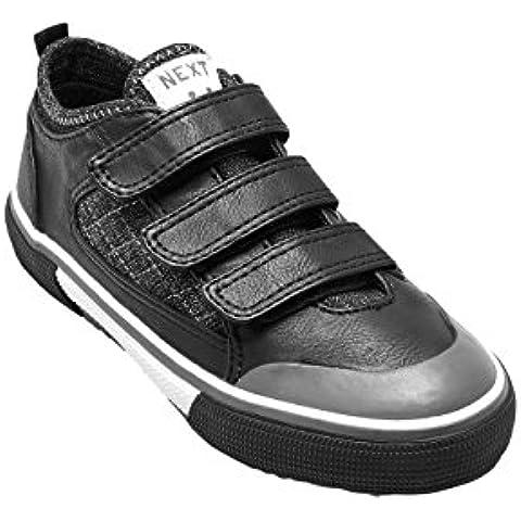 next Para Niños Zapatos Zapatillas Deportivas Tres Tiras Velcro (Niño Mayor)