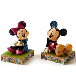 Figurine Disney Tradition - Serre-Livres Mickey et Minnie