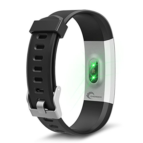 Fitness Tracker Upgraded Version CHEREEKI Heart Rate Monitor Activity Tracker IP67 Waterproof 096 Touch Screen Smart Bracelet Sports Wristband Pedometer Smartwatch With Alarm Calorie Counter Sleep Mon