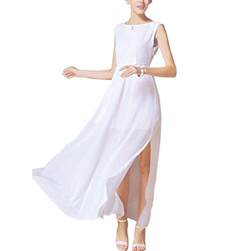 buenos ninos - Robe - Taille empire - Uni - Sans Manche - 80 DEN - Femme Blanc