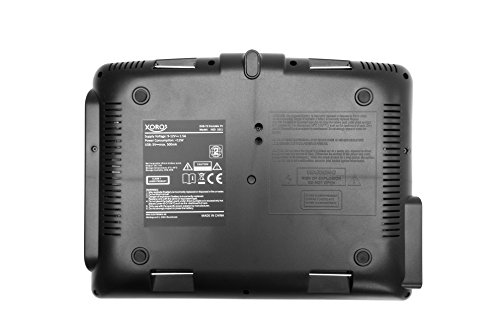 Xoro HSD 1011 Tragbarer DVD-Player mit DVB-T2 Tuner und 25,6 cm (10,1 Zoll) Bildschrim (DVB-T2 H.265 HEVC, USB 2.0, SDHC, Lithium Akku, Teleskop-Antenne, 12V Adapter, Fernbedienung) schwarz - 2