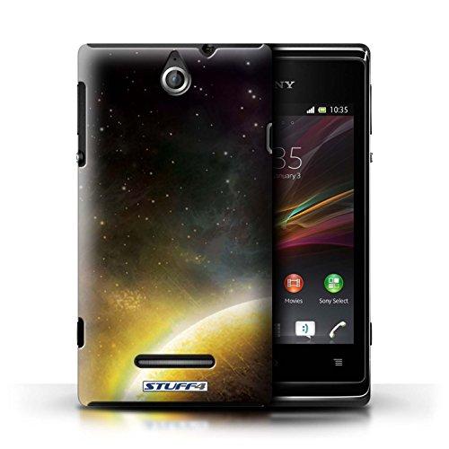 Kobalt® Imprimé Etui / Coque pour Sony Xperia E / Nébuleuse Pourpre conception / Série Cosmos Planète Jaune