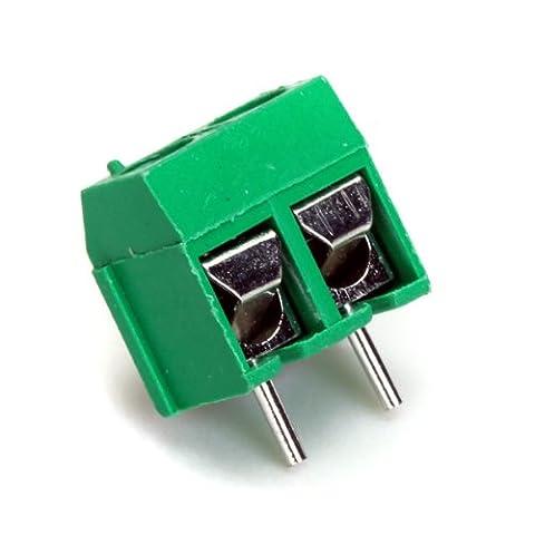 50pcs 2 Broches Pas De 5 Mm Ac 16a Connecteur Borne De Bloc 250v