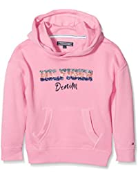 Tommy Hilfiger Ame S Iconic Hd Hwk L/S, Sweat-Shirt à Capuche Fille