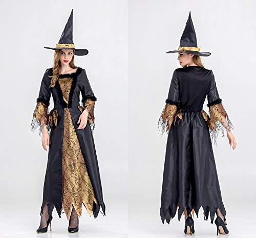 Yunfeng Hexenkostüm Damen Halloween Queen spielt Kostüm Bühne Show uniform (Bühne Show Kostüm)