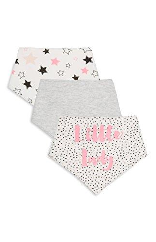 c9e7a989572 Bebé Pack de 3 baberos bandana baberos con correa ajustable