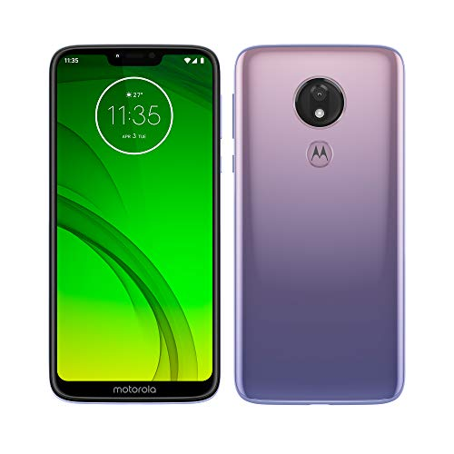 Motorola Moto G7 Power - Smartphone Android 9 (pantalla 6.2'' HD+ Max Vision, cámaras 12MP y 8MP, 4GB de RAM, 64 GB, Dual SIM), color violeta hielo [Versión española]