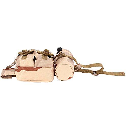 Tophie Außen Camping Hüfttasche Sport wasserdicht Hüfttasche mit Kettle Tasche Laufen Gürteltasche Pouch Gürteltasche für Wandern Laufen Radfahren Camping Reise Klettern Herren DCU