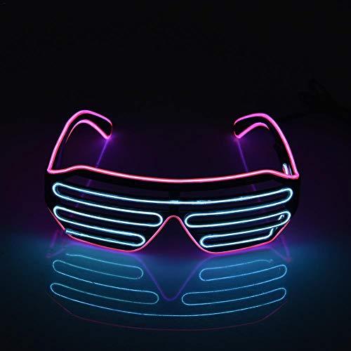 Wire LED Party Brille Drahtbrille Spass Partybrillen Neuheit blinkende Gläser mit Batterie Box für Karneval Rave, Nachtclubs Fest, Geschenk ()