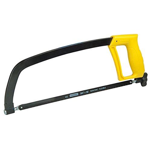 Stanley Metallbügelsäge (300 mm Klingenlänge, max. Schnittleistung 110 mm, 24 Zähne/Inch, 90°/180° verstellbar) 1-15-122