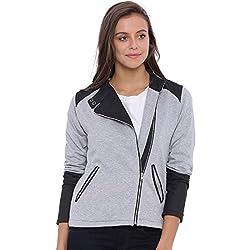 Campus Sutra Women Grey Jacket(AW16L_JKCRZHN_W_PLN_GRBL_M)