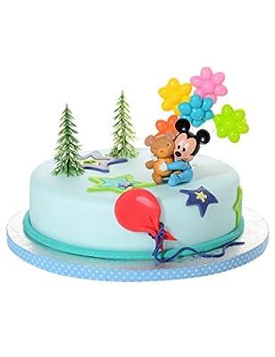 Generique - 4 Accessoires pour gâteau Bébé Mickey