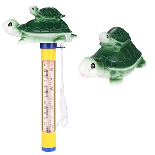 Ethradia Floating Pool Thermometer Digital Animal für Outdoor/Indoor Pools, Pool Thermometer mit String, Spa Bad Wasser Schwimmendes Thermometer, Whirlpool, Spa, Whirlpool, Teich und Aquarien