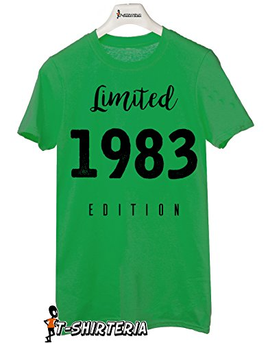 Tshirt Limited edition 1983 - idea regalo per compleanno - Tutte le taglie by tshirteria Verde