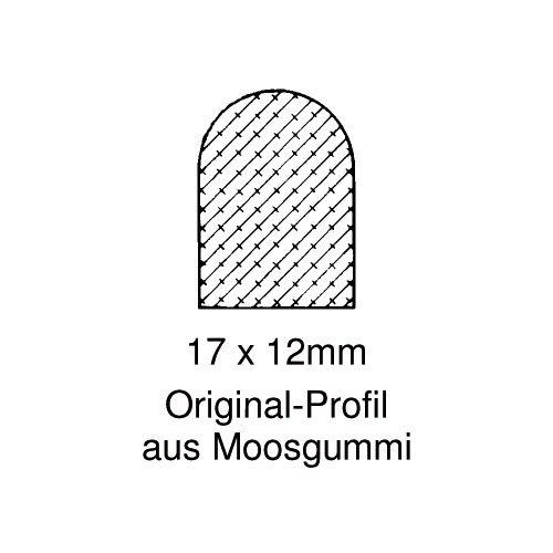 DIWARO® Moosgummi - Dichtung | grau | 5 Meter | geeignet als Türdichtung für die Montage in Türzargen wie z.b. Stahlzargentür, Holztür, usw. Die Moosgummidichtung passt sich beim Andrücken fest an sämtliche umgebenden Flächen an und dichten so optimal ab.