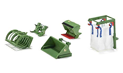SIKU 3658, 5-teiliges Frontlader Zubehör-Set, 1:32, Passend für alle SIKU Traktoren mit Frontlader im Maßstab 1:32