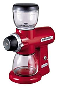 "Kitchenaid 5KCG100EER Série ""Artisan"" Moulin à Café Rouge Empire"
