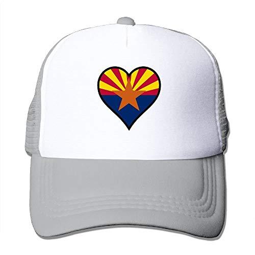 VTXINS Love American Arizona Flag Mesh Unisex Snapback Baseball Trucker Hats