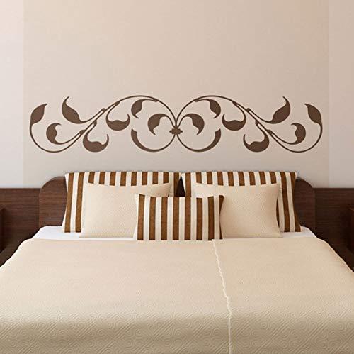 Hwhz 100 X 21 Cm Bett Kopfteil Wandaufkleber Classic Ornamental Design Mit Blättern Und Barock-Inspirierten Ausführungen Bedhead Wand Deco -