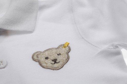 Steiff Unisex - Baby Poloshirt 0006831 1/1 Arm Weiß (Bright White 1000)
