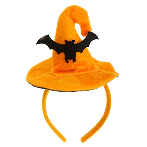 Gazechimp Hexenhut Haarband Stirnband Halloween Weihnachten Feste Party Kopfband Kostüm Accessories für Frauen Kinder - Fledermaus