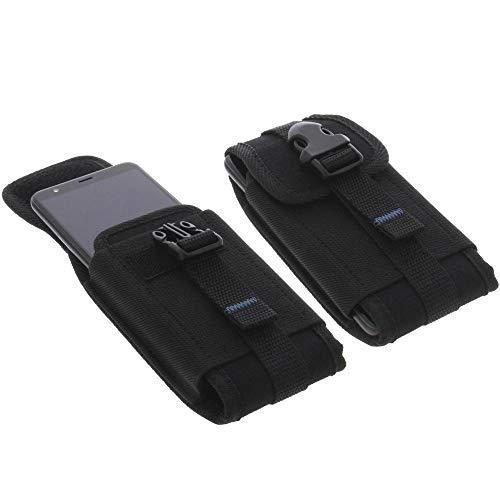foto-kontor Tasche für Gigaset GS280 Outdoor Hülle Metallclip Gürtelschlaufe mit Sicherheitsclip