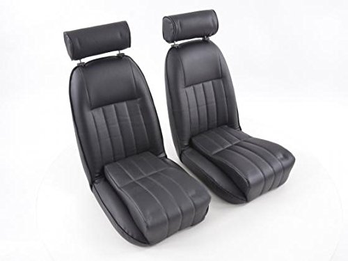 FK-Automotive FK Oldtimersitze Autositze Set Vollschalensitze Klassiker Carseats Retro-Look