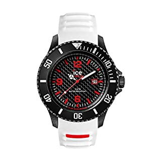e4c4bfb5afccb Ice-Watch - Ice Carbon White Black - Montre Blanche pour Homme avec  Bracelet en Silicone - 001311 (Large) ...