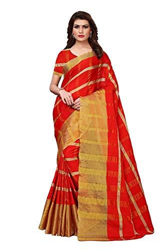 Indische Bollywood Hochzeit Saree indische ethnische Hochzeit Sari Neue Kleid Damen lässig Tuch Geburtstag Ernte Top Mädchen Frauen schlicht traditionelle Party Wear Readymade Kostüm (Red 2) -