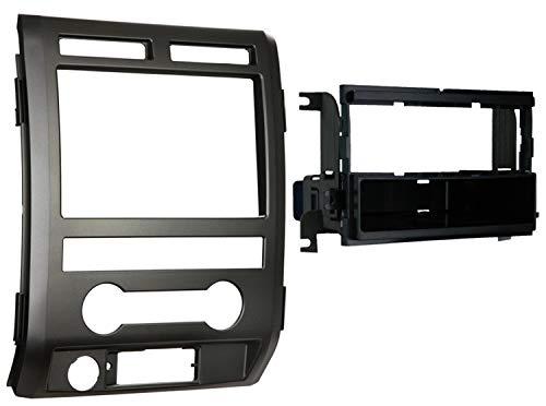 METRA 99-5822b Single DIN Installation Dash Kit für 2009-2010Ford F-150Non-NAV Modelle mit Treiber Info Switches in Factory Panel (matt schwarz) -