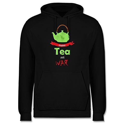Statement Shirts - Make tea - not war - Männer Premium Kapuzenpullover / Hoodie Schwarz