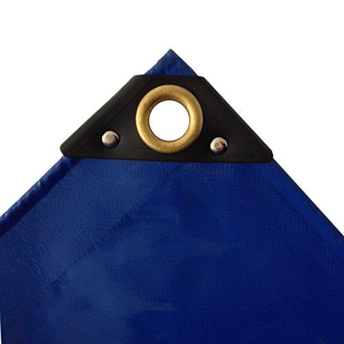 650 G/m² bleu camion bâche pVC bâche industrielle tissu résistant à la déchirure ösenUV bâche bâche de protection étanche 3 x 5