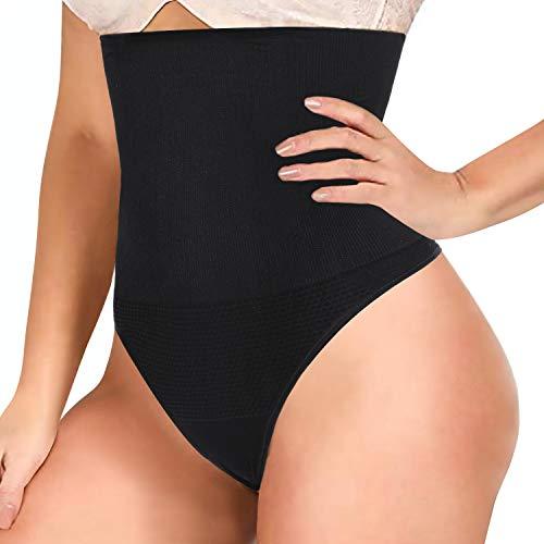 Gotoly Bauchweg Unterhose Damen Shapewear Miederhose Bauch Weg Stark Formend Shaping Sexy Unterwäsche Body Shaper Figurenformend Miederslip Taillenformer Taillenmieder (XS/S, Schwarz)