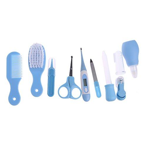 Guoyy 10pezzi/set newborn baby bambini per unghie capelli salute cura termometro cura pennello kit