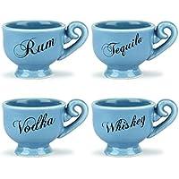 Thumbs Up! Tea Party Shot Glasses Set da 4 di