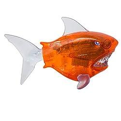 Swimways Battle Reef Shark Battery Operated Pool Toy For Kids Orange