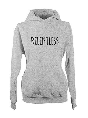 Relentless Strict Determined Femme Capuche Sweatshirt Gris