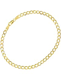 Citerna 9 ct Yellow Gold 2.3 g Curb Bracelet of 19 cm/7.5 Inch Length and 3.5 mm Width