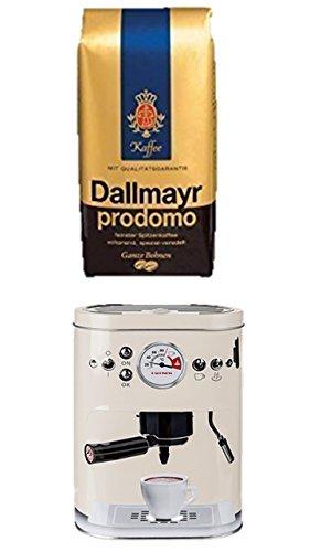 Kaffeedose Vorratsdose für Kaffeebohnen und Pulver + Dallmayr Kaffee Prodomo ganze Bohnen 500gr