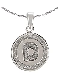 Ananth Jewels 925 Silver Letter D BIS Hallmarked Pendant With Chain For Men And Women
