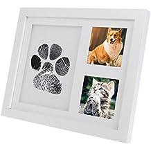 Chiic Marco de Fotos Personalizado Mémorial Pata de Perro y Sello para bebés, tampones de