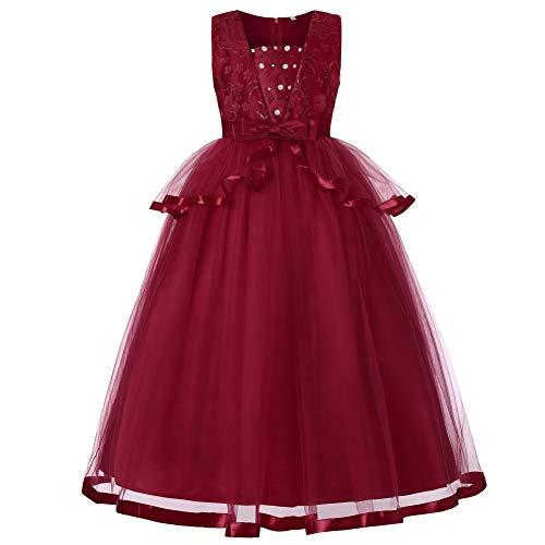 Gonna Tulle Bambina Vovotrade Vestito Principessa Bambina Matrimonio delle Neonate Fiore Paillettes Princess Abito Formale con Bowknot