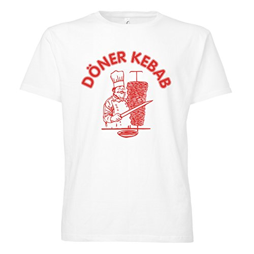 ShirtWorld - Döner Kebab - T-Shirt S, Weiß