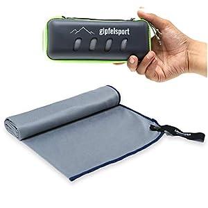Mikrofaser Handtuch Set – Microfaser Handtücher mit Case für Sauna, Fitness, Sport | Strandtuch, Sporthandtuch