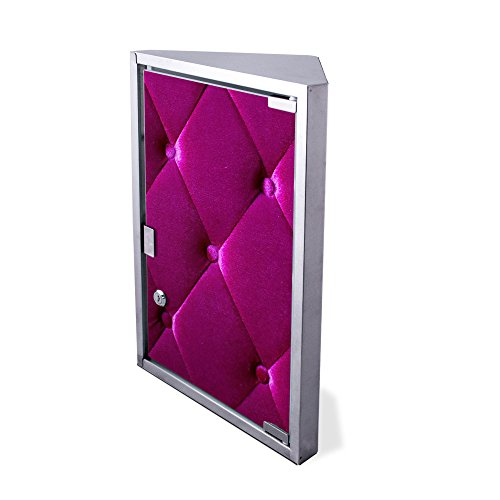 Edelstahl Medizinschrank Eckschrank abschließbar 30x17,5x45cm Badschrank Hausapotheke Arzneischrank Bad Pink Polster