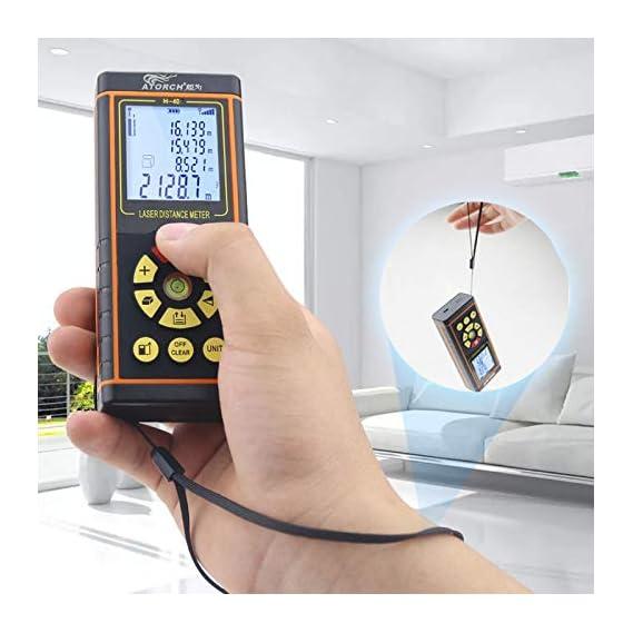 Baybar 100M Laser Rangefinder Optical Tape Range Finder Diastimeter Building Measure Digital Laser Distance Meter
